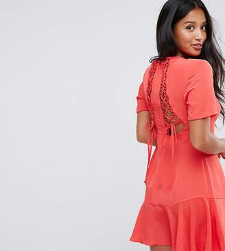 Asos Lace Up Back Tea Dress