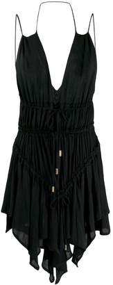 DSQUARED2 shredded plunge mini dress