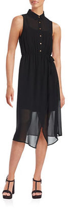 Kensie Crepe Midi Dress $99 thestylecure.com