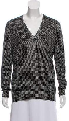 Bottega Veneta Patterned V-Neck Sweater