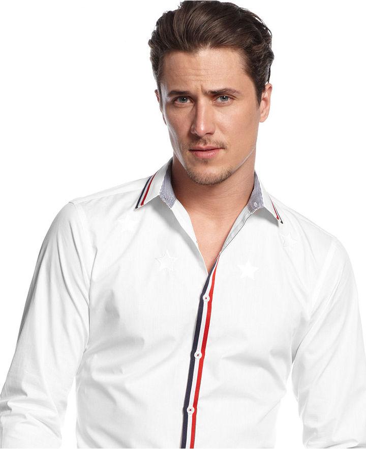 INC International Concepts Shirt, Harvey Long Sleeve Slim Fit Shirt
