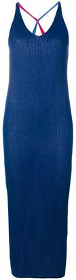 Diane von Furstenberg two tone v-neck dress
