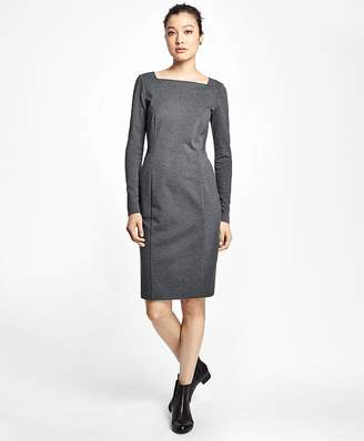 Ponte Knit Sheath Dress $198 thestylecure.com