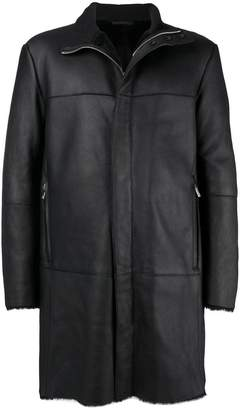 Giorgio Armani long leather jacket