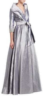 Catherine Regehr Embellished Silk Gown