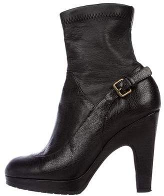 Derek Lam Leather Round-Toe Ankle Boots