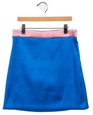 Milly Minis Girls' Satin A-Line Skirt