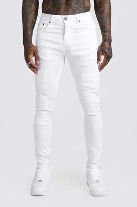 boohoo Skinny Fit Jeans With Rip And Repair