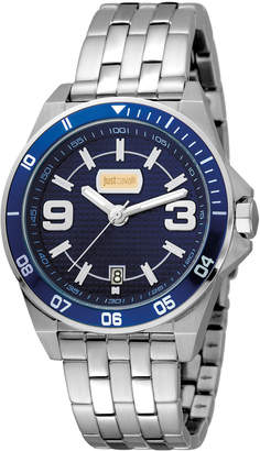 Just Cavalli 40mm Men's Stainless Steel Chronograph Watch, Blue