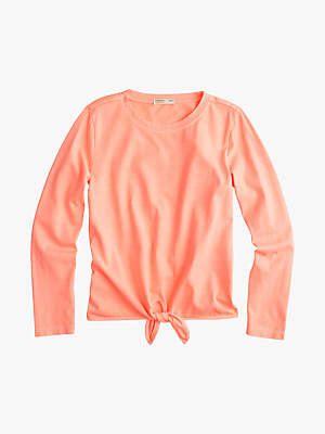 J.Crew crewcuts by Girls' Courtney Tie T-Shirt, Pink
