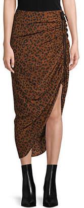 Diane von Furstenberg Asymmetric Ruched Skirt