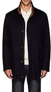 Barneys New York Men's Suede-Trimmed Cashmere Felt Field Jacket-Navy