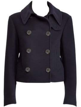 Ralph Lauren Stand Collar Wool-Cashmere Jacket