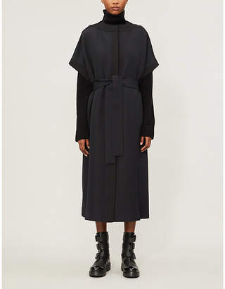 The Row Miriam kimono sleeves wool and silk-blend coat
