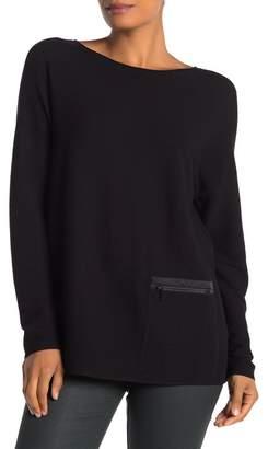 Lafayette 148 New York Zip Pocket Textured Sweater