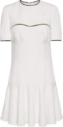 Brandon Maxwell Drop Waist A-Line Crepe Dress