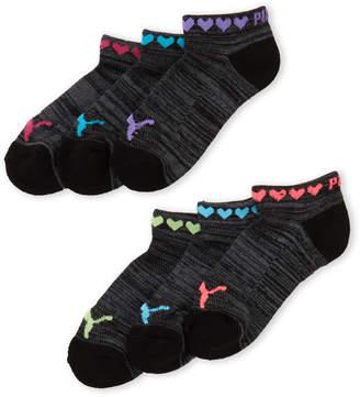 Puma Girls 4-6x) 6-Pack Low Cut Socks