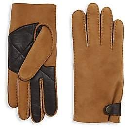 UGG Men's Sheepskin Snap Tab Smart Gloves