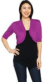 C. Wonder Elbow Sleeve Cropped Sweater Shrug
