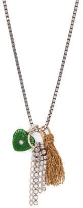Bottega Veneta Heart Pendant Chain Necklace - Womens - Green