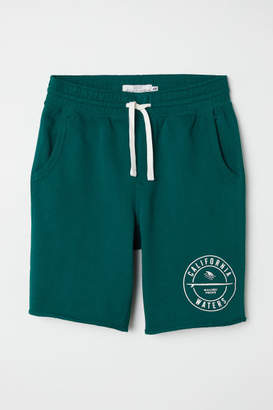 H&M Knee-length Sweatshorts - Green