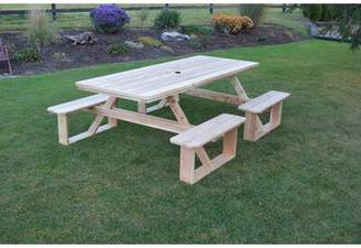 August Grove Bercht Solid Wood Picnic Table August Grove