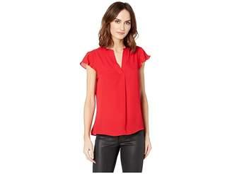 Calvin Klein Short Sleeve Woven Pullover Women's Clothing