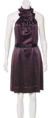 3.1 Phillip Lim Velvet-Trimmed Silk Dress