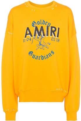 Amiri logo print stitch detail jumper