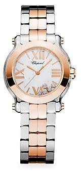 Chopard Women's Happy Sport Mini New Generation Diamond, 18K Rose Gold & Stainless Steel Bracelet Watch