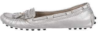 Balenciaga Metallic Leather Loafers