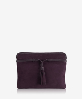 GiGi New York Piper Clutch, Berry French Nubuck Suede