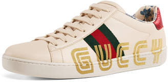 Gucci New Ace Guccy Leather Sneaker