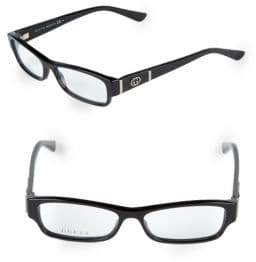 Gucci 51MM Rectangle Optical Glasses