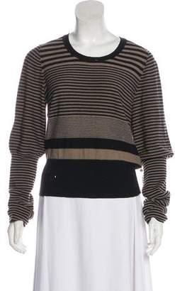 Sonia Rykiel Striped Scoop Neck Sweater