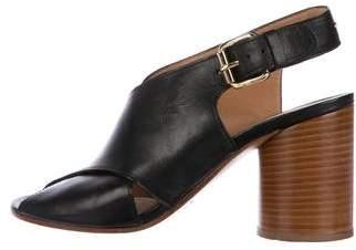 Maison Margiela Leather Slingback Sandals