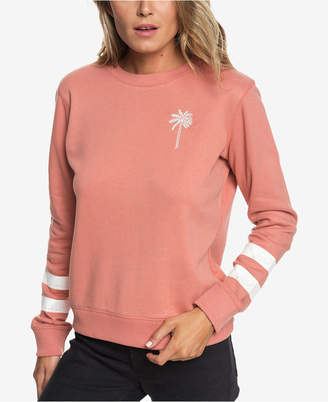 Roxy Juniors' Embroidered Fleece Sweatshirt