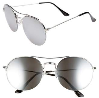 BP 55mm Round Metal Aviator Sunglasses
