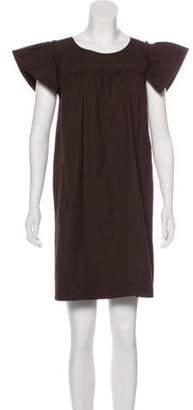 Marc Jacobs Short Sleeve Mini Dress Brown Short Sleeve Mini Dress