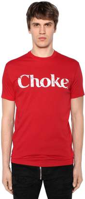 DSQUARED2 Choke Printed Cotton Jersey T-Shirt