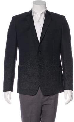Versace Ombre Wool Two-Button Blazer