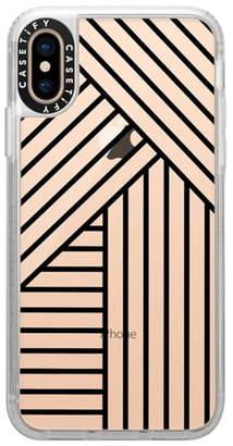 Casetify Stripes Transparente iPhone X/Xs/XR & XS Max Case