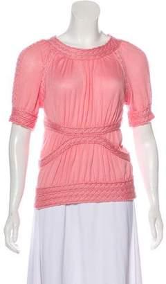 Louis Vuitton Cashmere Short Sleeve Top