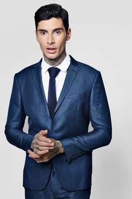 boohoo Gingham Skinny Fit Suit Jacket