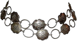 One Kings Lane Vintage Navajo-Style Sterling Concho Necklace - Treasure Trove NYC