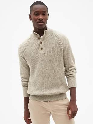 Gap Textured Mockneck Pullover Sweater