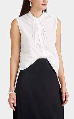 Yohji Yamamoto Regulation Women's Cotton Asymmetric Blouse - White