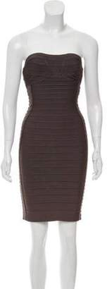 Herve Leger Bandage Dress Grey Bandage Dress