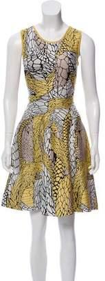 Issa Fluted Jacquard Dress