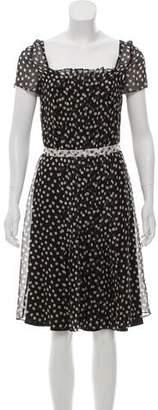 Rena Lange Silk Printed Dress